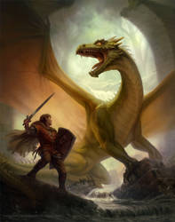 Facing the Dragon by depingo