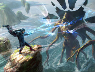 MtG Clash of Wills by depingo