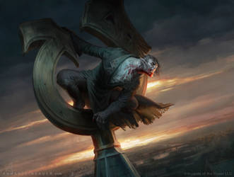 MtG Ravenous Bloodseeker by depingo