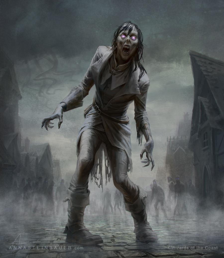 MtG Zombie Token by depingo