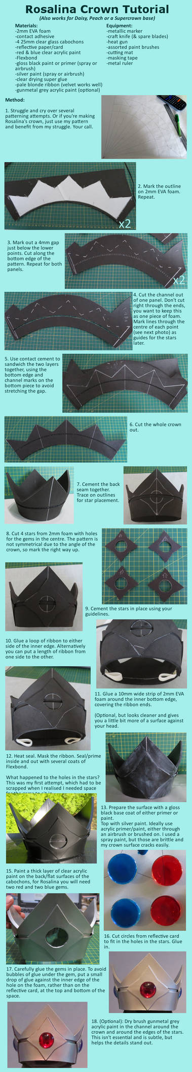 Rosalina Cosplay Crown Tutorial by HollowFlameCosplay on