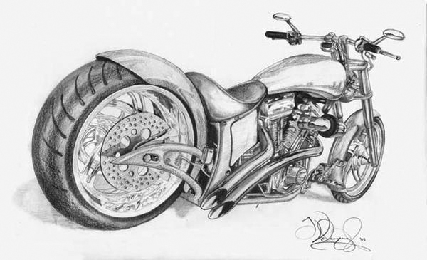 chopper drawing by j swiph