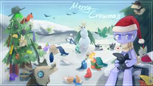 Merry Crowsmas! by KeroKrow