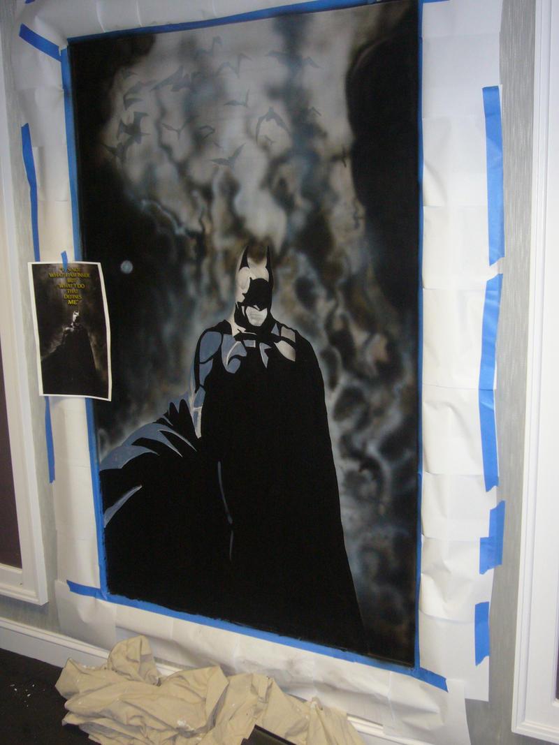 Batman mural by matt almeida on deviantart for Batman mural wallpaper