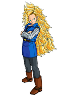 SSJ3 Android 18 by SpinoInWonderland