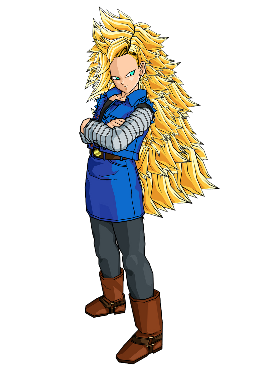 SSJ3 Android 18 by SpinoInWonderland on DeviantArt
