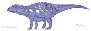 Palaeoscincus the dinosaurian skink by SpinoInWonderland