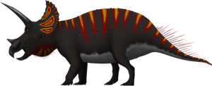 Triceratops horridus by SpinoInWonderland