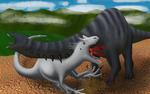 Apatosaur vs Indominus
