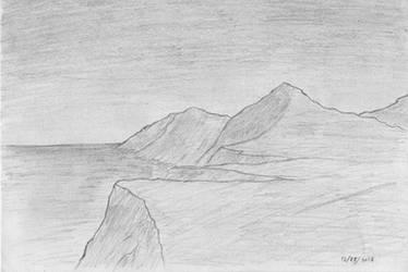Coastal Cliffs (2016) by SpinoInWonderland