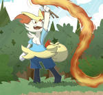 Rosie the Braixen (Commision by GlassesGator) :) by Fester1124