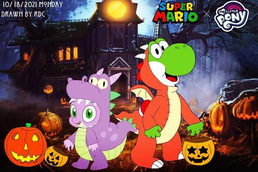 Halloween Dragons (Super Mario X MLP)
