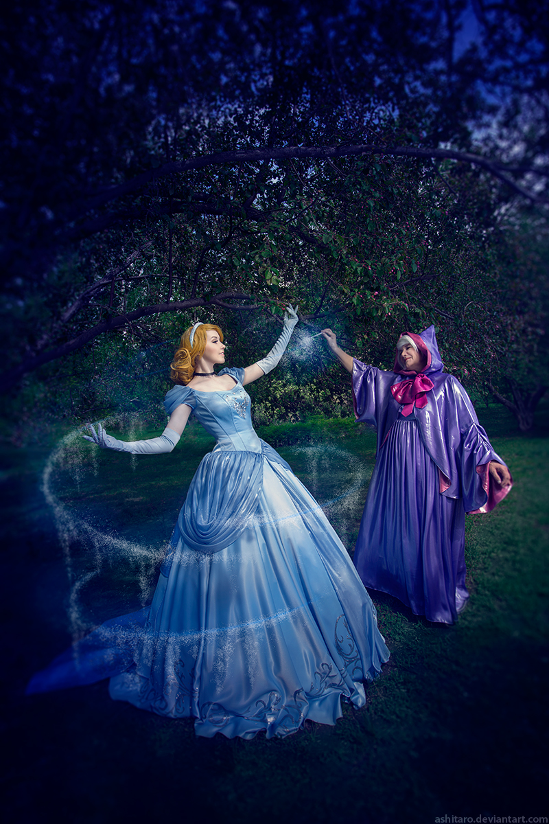 cinderella and fairy godmother by kikolondon on deviantart