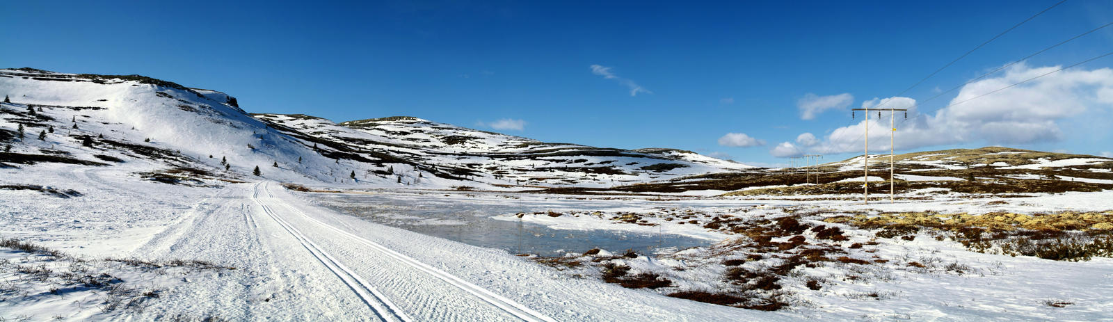 Cross Country Ski Trails Panorama by scwl