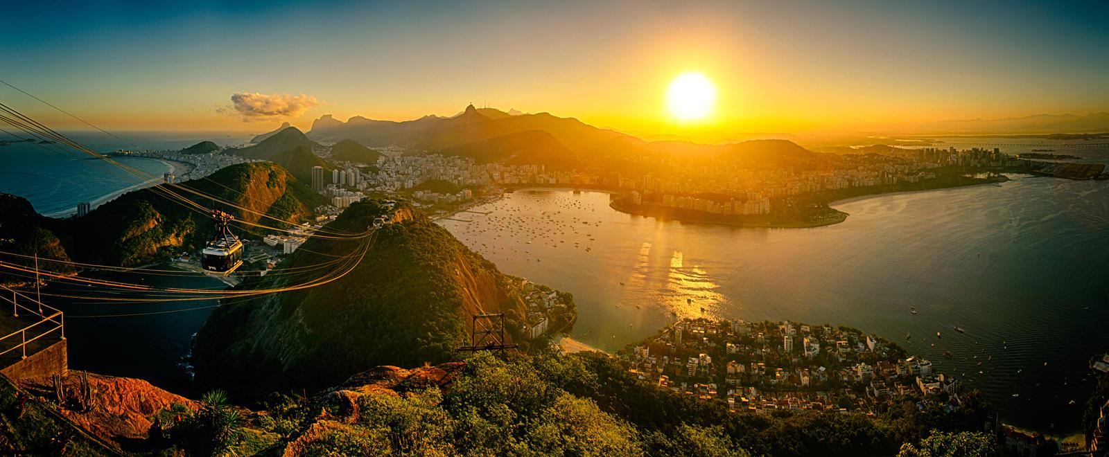 Rio de Janeiro Sunset by scwl