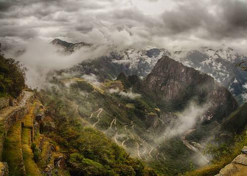 Machu Picchu view from the Sun Gate