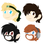 More Cute Little Heads! by Violet-The-Cat