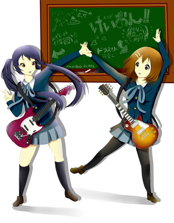 Yui  and AzuNYAN! by MomoChocolate