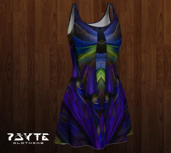 Purple Panel Dress by PsyteClothing
