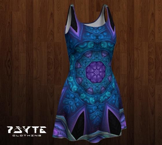 Purpleblue Dress by PsyteClothing
