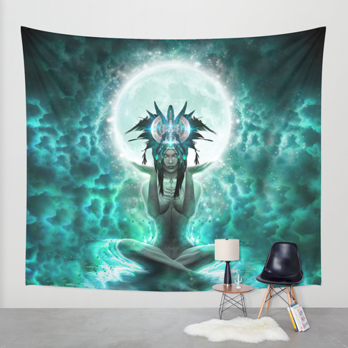 Selene Wall Tapestry by PsyteClothing
