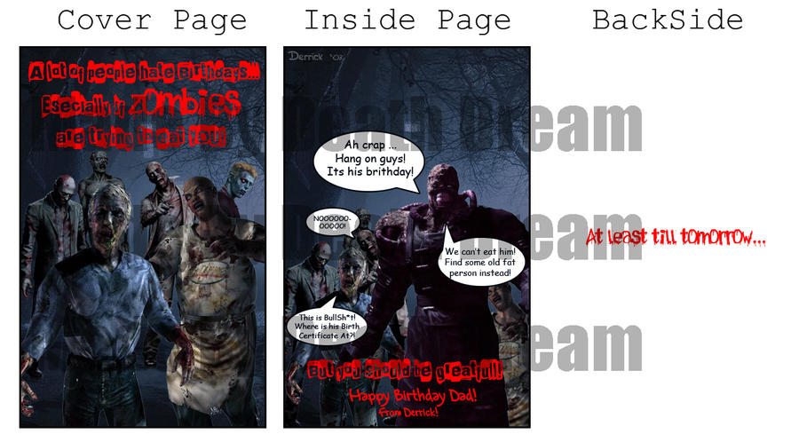 Zombie birthday card by deathdr3am on deviantart zombie birthday card by deathdr3am bookmarktalkfo Choice Image