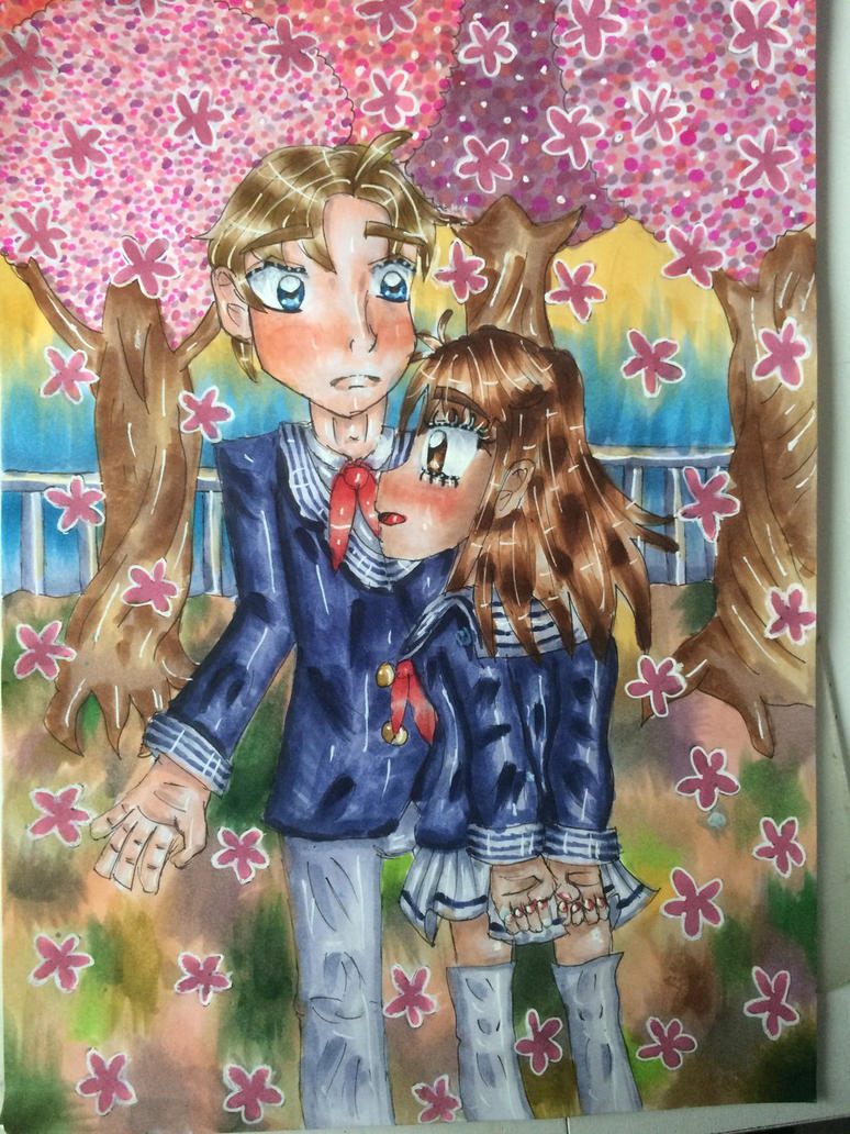 Sakura Kiss by MagicalMicchi