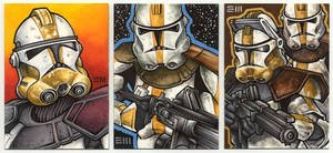 Clone Troopers Sketch Cards by Erik-Maell