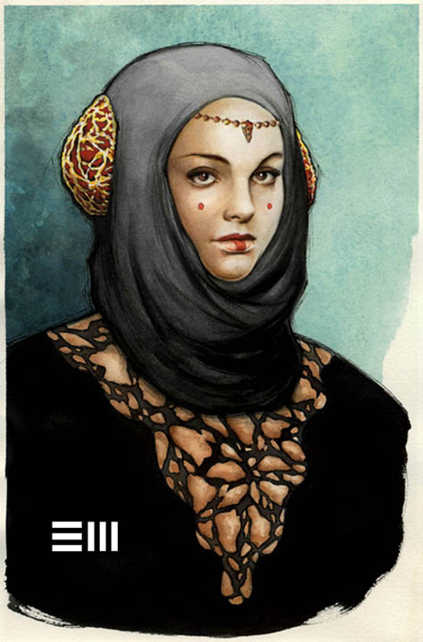 Amidala Watercolour by Erik-Maell