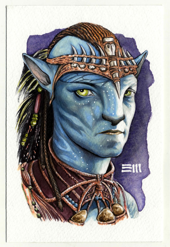 Avatar Sketch - Jake Sully by Erik-Maell