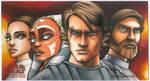 Clone Wars WideVision Sketch Card