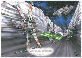 Death Star Trench - Artist Proof by Erik-Maell
