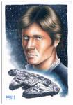 Han Solo and the Millenium Falcon