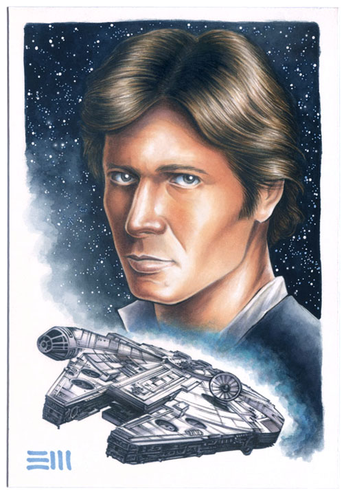 Han Solo and the Millenium Falcon by Erik-Maell