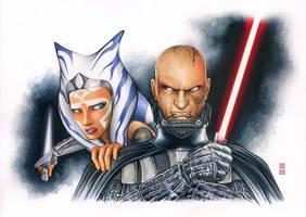 Anakin and Ahsoka - REBELS by Erik-Maell