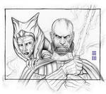 Anakin and Ahsoka - Concept Sketch