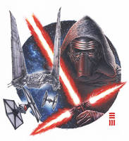 Kylo Ren Commissioned Painting by Erik-Maell