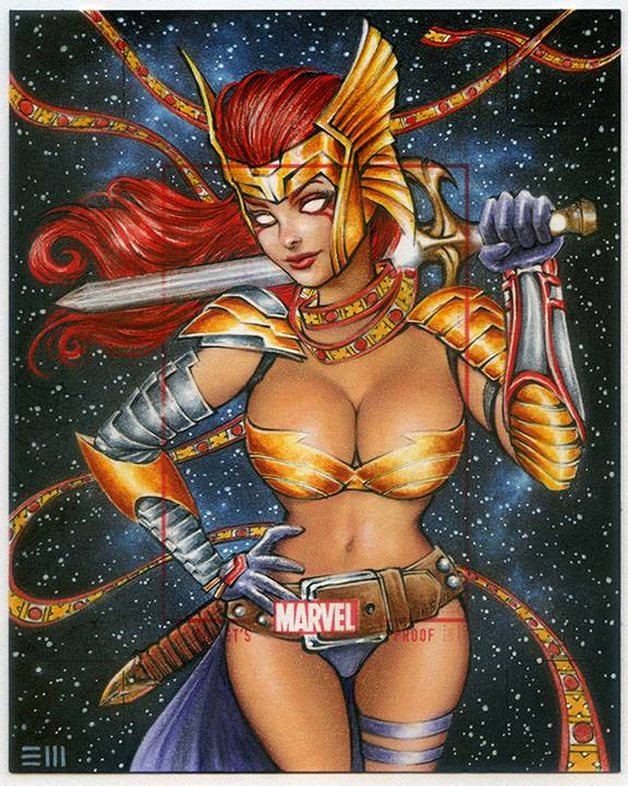 Angela from Guardians of the Galaxy by Erik-Maell