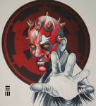 WIP - Darth Maul Commissioned Painting