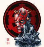 Darth Maul Commissioned Painting