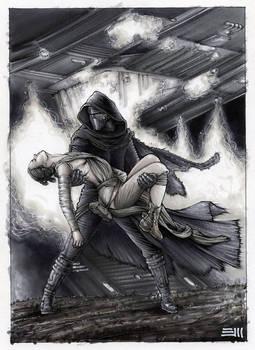 Rey's Abduction - Preparatory Sketch