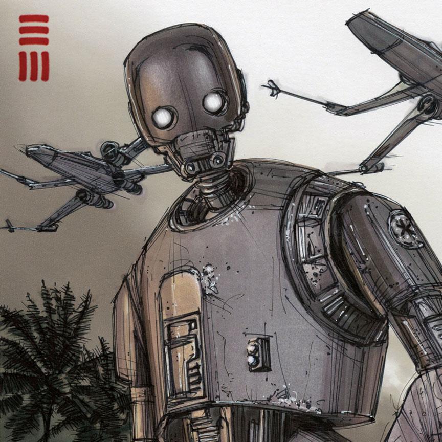 Rogue One K2so Sketch By Erik Maell On Deviantart