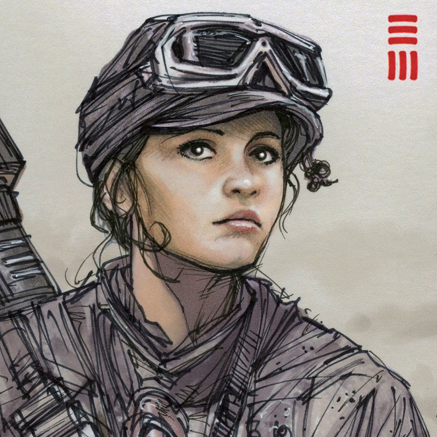 Jyn Erso Sketch By Erik-Maell On DeviantArt