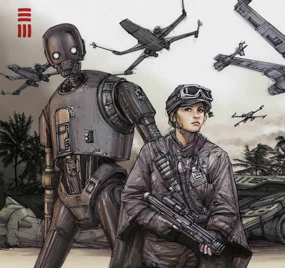 Rogue One - Scarif sketch