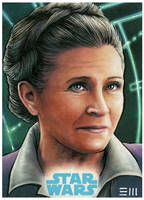 General Leia - Force Awakens Artist Proof by Erik-Maell