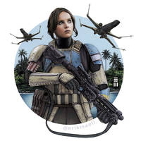 Jyn Erso disguised as a Shoretrooper by Erik-Maell