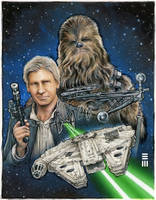 Han and Chewie Concept Sketch by Erik-Maell