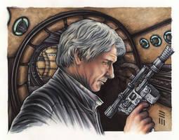 Han Solo Portrait Study by Erik-Maell