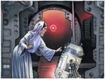 Princess Leia and R2-D2 Concept Sketch