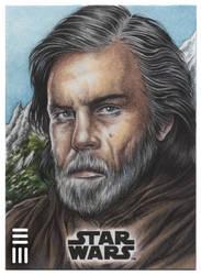 Luke Skywalker Artist Proof on Ahch-To by Erik-Maell